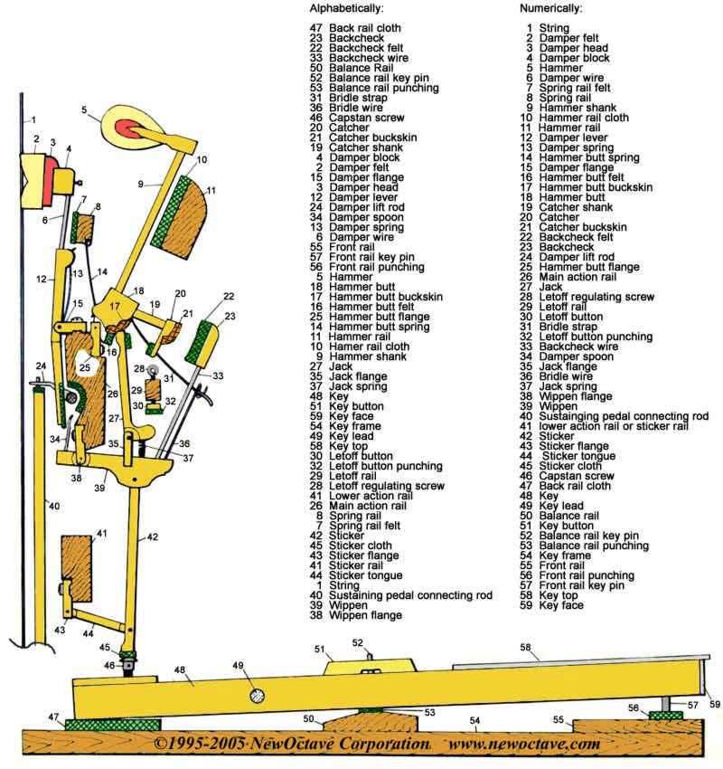 bluebook of pianos actions and specifications used piano price rh bluebookofpianos com piano chords diagrams printable piano music diagram
